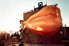 Spectacular Fashion Fantasies - Kristian Schuller:  Awesome perspectival shots with warm color grading.