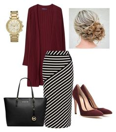 """""""Sophisticated Class"""" by danielle-ash92 on Polyvore featuring Gianvito Rossi, Violeta by Mango, Karen Millen and Michael Kors"""