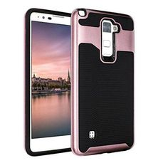 For LG Stylo 2 Plus / MS550Ikevan Newest Fashion Premium Rugged Rubber Hard Back Case Cover Skin For LG Stylo 2 Plus / MS550 (Rose Gold)
