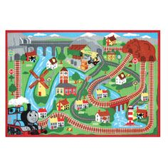 Thomas & Friends�Rectangular Red Transitional Accent Rug (Common: 2-ft x 4-ft; Actual: 31.5-in x 44-in)