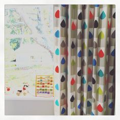 #trippy #amsterdam #tulips Scion Fabrics and Wallpapers Curtaineasy #curtains #scionfabric