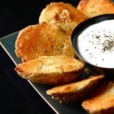Parmesan Baked Potato Halves - the parmesan and butter make a nice, crunchy coating