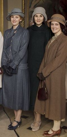 Downton Abbey costumes. Inspiration for Maude's winter coat and hat.