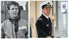 There's 32 years between these two pictures of Crown Prince Frederik at Flyvestation Aalborg. Let's just say that time has been good on our Frederik Prince Frederik Of Denmark, Prince Frederick, Aalborg, Handsome Prince, Danish Royal Family, Danish Royals, Queen Mother, Boyish, Princess Mary