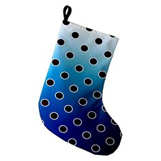 E by Design Holiday Bubbly Printed Christmas Stocking - STGN710BL34RE6