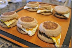 Make Ahead Breakfast Sandwiches-doing this today in preparation for the hot week ahead!