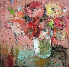 Poe amor al arte, julia Klimova painting. Mini Paintings, Paintings I Love, Alcohol Ink Art, Impressionist Paintings, Arte Floral, Abstract Flowers, Flower Art, Decoupage, Art Projects