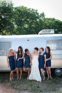 Love the color of the bridesmaid dresses