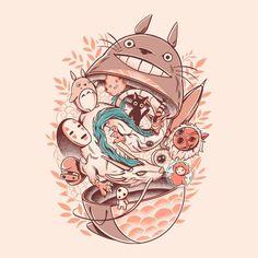 My Neighbor Ghibli Studio Ghibli Films, Art Studio Ghibli, Studio Ghibli Tattoo, Animes Wallpapers, Cute Wallpapers, Anime Disney, Personajes Studio Ghibli, Studio Ghibli Background, Japon Illustration