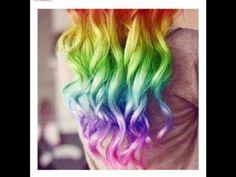 Rainbow hair...