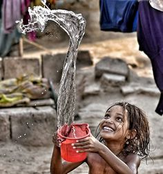 A source of life Poor Children, Precious Children, Beautiful Children, Creative Photography, Children Photography, Portrait Photography, Kids Around The World, People Of The World, Photos Du