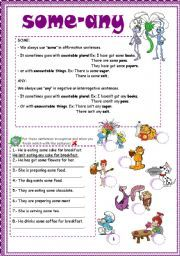 English teaching worksheets: Some/any/much/many   English ...