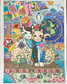 #creativecatscoloringbook #creativecats #marjoriesarnat #adultcoloring