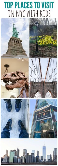 Top Places to Visit in NYC with kids - from the Statue of Liberty to Central Park, this is a great list of kid-friendly places to visit in Manhattan!