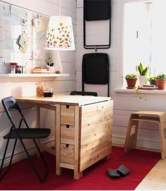 Modern Small Dining Room Design Tips, ideas and Pictures Modern tiny dining room ideas ikea 2010 – Home Designs and Pictures Norden Gateleg Table, Table Ikea, Tiny Dining Rooms, Ikea Dining Room, Small Dining, Dining Room Furniture, Dining Table, Ikea Small Kitchen Table, Decorating Rooms