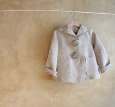 Hey, I found this really awesome Etsy listing at https://www.etsy.com/listing/166965480/linen-jacket-pea-coat-toddler-girls
