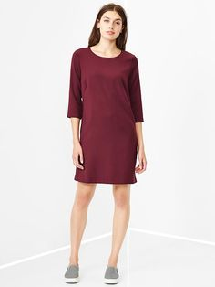 LINK: https://yroo.com/af/1418996/ruid/21327 Gap Women Zip Back Shift Dress Size 4 Tall - tawny port | 29% OFF