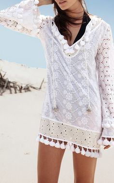 Floral Embroidered Eyelet Dress by CHANTIK Now Available on Moda Operandi