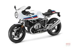 Here's the stunning new BMW R nineT Racer, due to be launched at the Intermot moto show next week. We see hints of the original Concept 90 prototype here, and the wheels seem to be 17-inchers. It's rather tasty, isn't it?