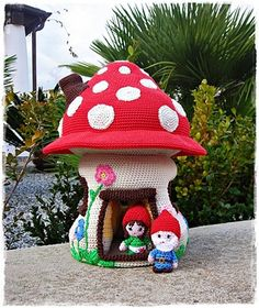 mushroom house by lella ✿ڰۣ—  - mushroom pattern by Mala-Designs