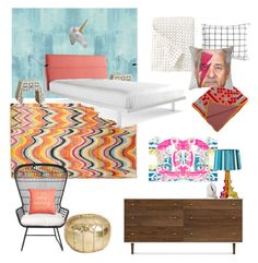 """""""Busy Gal's Bedroom"""" by emilybashamhoelscher on Polyvore featuring interior, interiors, interior design, home, home decor, interior decorating, Designers Guild, F.J. Kashanian, DKNY and Blu Dot"""