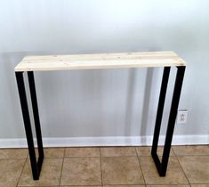 DIY Modern Entryway Table – Mom in Music City Entryway Table Modern, Rustic Farmhouse Entryway, Entryway Decor, Entryway Tables, Diy Sofa Table, Console Table, Home Decor Store, Classic Furniture, Mom
