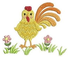 Farm Animals 6 - 4x4 | What's New | Machine Embroidery Designs | SWAKembroidery.com Chicken Rooster Ace Points Embroidery
