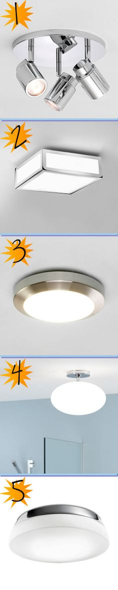 our top 5 bathroom ceiling lights