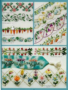 1000 Images About Embroidery Borders On Pinterest