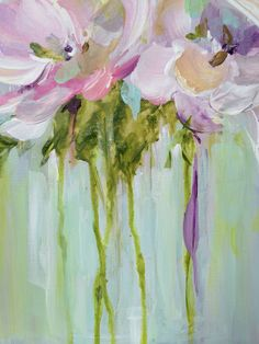 """""""Pastel Floral"""" - close up/ Acrylic Painting by Susan Pepe"""