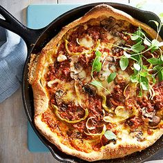 Moroccan-Spiced Deep-Dish Pizza From Better Homes and Gardens, ideas and improvement projects for your home and garden plus recipes and entertaining ideas.