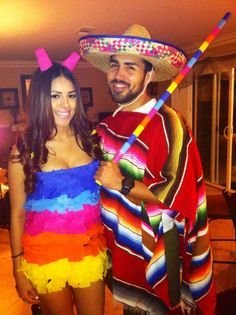 Mexican and Pinata costume