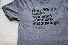 i need so this so badly. The Direwolves of the Stark family of Winterfell- Game of Thrones