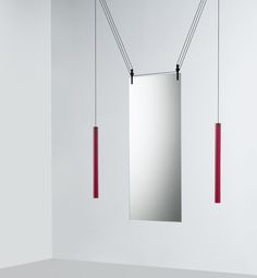Palanco is a mirror with two faces designed by Ronan and Erwan Bouroullec for Glas Italia. It also works well as a space devider. See more on http://casaecodesign.ro/palanco-oglinda-cu-doua-fete/