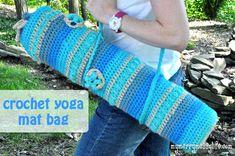 """Free pattern for """"Crochet Yoga Mat Bag""""!"""