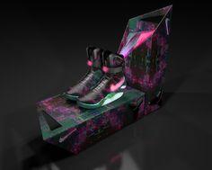 Custom Nike Air Mag - Digital Nightmare
