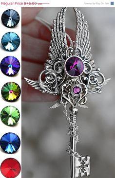 Chaînes de vente v-Day de démiurge clés collier par KeypersCove