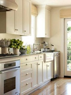 my kitchen can look like this beadboard backsplash new cabinet fronts and small galley kitchensdream kitchensideas for small - Small Galley Kitchen Ideas
