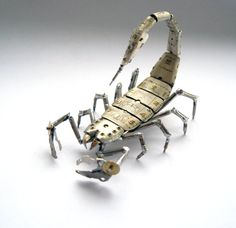 Mechanical scorpion by a Mechanical Mind. http://www.npr.org/blogs/krulwich/2013/02/11/171734095/what-is-it-about-emily