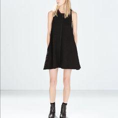 $30 Zara jacquard flared dress black with pockets Brand new Zara Dresses