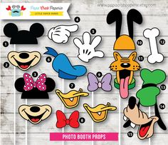 Instant Download / 39 Pieces Disney Inspired Photo Booth Props + 1 Photo Booth Sign (PBP01) by PapaCrabPaperie on Etsy https://www.etsy.com/listing/185713848/instant-download-39-pieces-disney