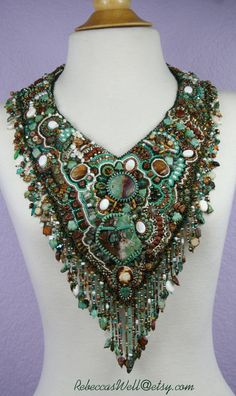 RAINFOREST RHAPSODY a beautiful and unique hand by RebeccasWell, $525.00
