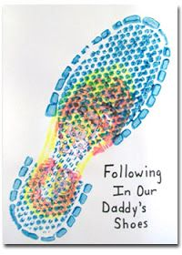 Following in our Daddy's Shoes. Fathers Day Craft