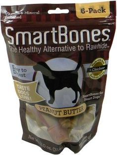 DOG TREATS - ALL OTHER - SMARTBONES PEANUT BUTTER SMALL - 6 PACK