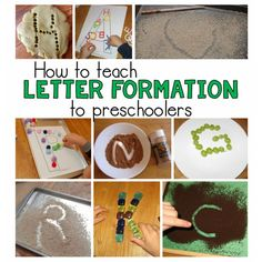 How to Teach Letter Formation to Preschoolers ~ You'll find lots of fine motor activities at The Measured Mom!