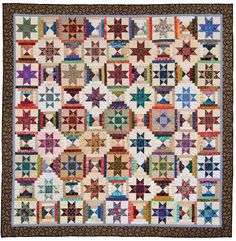 """Think you can't use every fabric you own in a single scrap quilt? Think again! Learn bestselling author Sally Schneider's fun """"brown bag"""" method."""