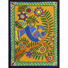 Buy Madhubani Painting and Traditional Art Paintings Online,Original Artwork from Harmony Arts online Art Gallery. Madhubani Paintings Peacock, Kalamkari Painting, Madhubani Art, Indian Art Paintings, Buddha Kunst, Buddha Art, Harmony Art, Gond Painting, Indian Folk Art