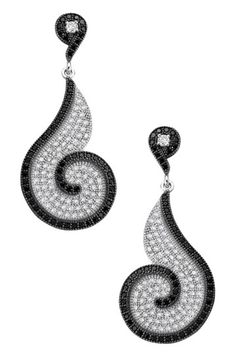 Diamond Black & White Earring