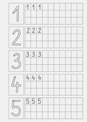 Vorschule Deutsch Kindergarten – Rebel Without Applause Preschool Writing, Numbers Preschool, Preschool Learning, Handwriting Worksheets, Kindergarten Math Worksheets, Preschool Activities, Montessori Math, Writing Numbers, Number Writing Practice