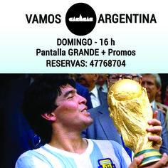 Domingo 13 de julio en el bar: gran FINAL Argentina - Alemania!!